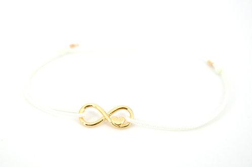 Armband Infinity Unendlichkeitszeichen Herz Gold Damen Schmuck kaufen make a wish Freundschaftsarmband online kaufen