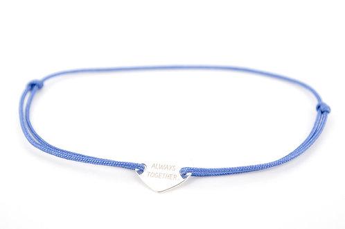 Armband Gravur Herz Silber kaufen Always together Schmuck Geschenk Shop Online