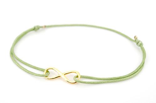 Armband Infinity Gold Unendlichkeitszeichen Band Schnur Schmuck Geschenk Liebe Freunde