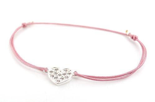 Armband S Herz Silber