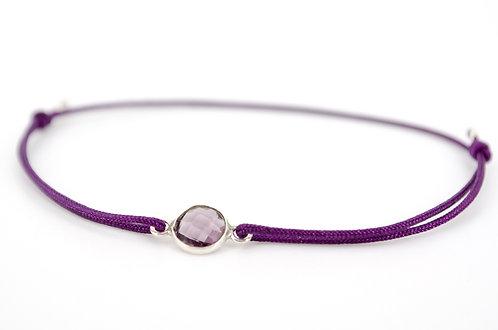 Armband Lila Violett mit Silber