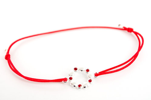 Armband Swarovski Silber Rot Damen online kaufen Schmuck