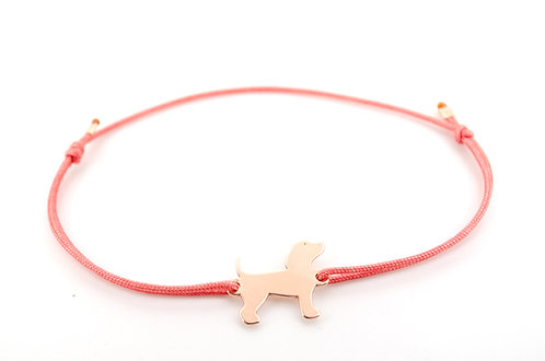 Armband Hund Hunde Pfote Tiere Tier Schmuck kaufen online Shop Damen Band Knoten make a wish Gold Rosegold Silber Sterling
