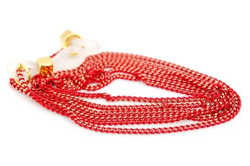Brillen- und Maskenkette Ovalon Rot