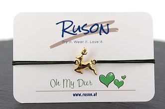 armband hirsch schmuck dirndl trachten handgemacht geschenk online kaufen shop deer oh my deer dear gold rosegold silber 925