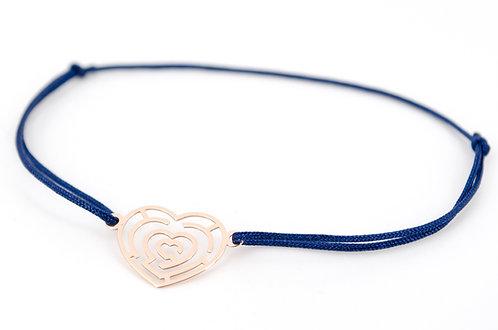 Armband Herz Labyrinth Rosegold Schmuck Handmade kaufen Damen Geschenk Make a wish Glücksarmband