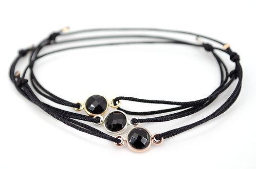 Armband Schmuck kaufen online Stein Spinell Schwarz Gold Roségold Silber Handmade handgemacht Shop Damen Geschenk