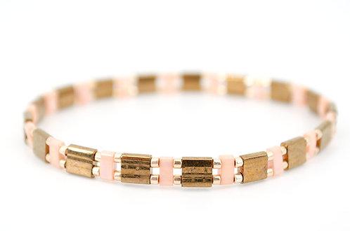 Armband Rosegold Perlen Schmuck Damen kaufen online Shop Gold braun rosa