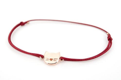 Armband Katze L Rosegold Schmuck kaufen online make a wish Handmade