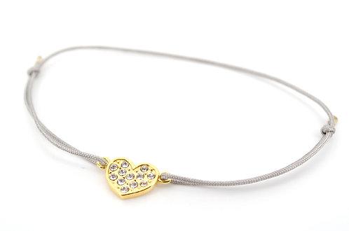 Armband S Herz Gold