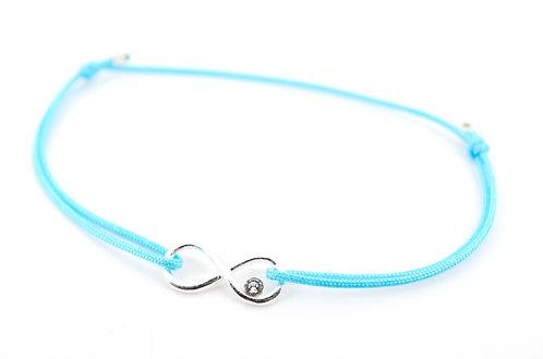 Armband Infinity Swarovski Silber Kristall filigran dünn Schnur Faden kaufen