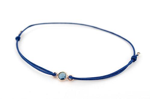 Armband Blau London Blautopas Rosegold Schmuckstein Gemstone Edelstein Damen kaufen online Shop Geschenk Liebe