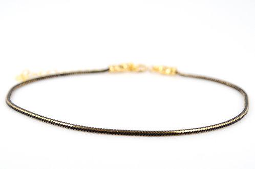 fusskettchen gold schwarz Schlangenkette