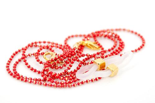 Brillen- und Maskenkette Sweety Rot