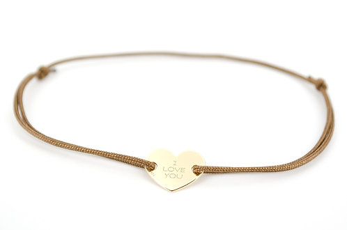 Armband Herz Gold Braun
