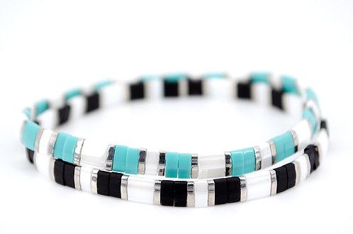 Armband Schmuck Damen kaufen online Shop Schwarz Silber Weiss Türkis Farbe bunt Geschenk Liebe Freude