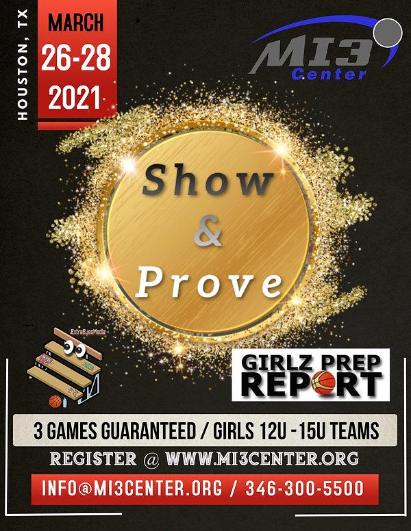 Show & Prove Flyer