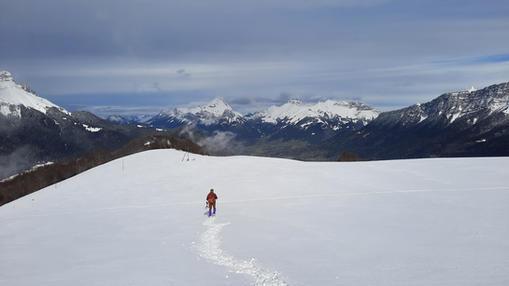 Le Mont Pelat vers le Mont de la Vierge