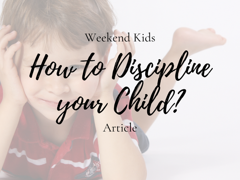 Disciplining Your Children - Dos and Don'ts