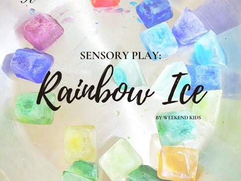 Sensory Play: Rainbow Ice