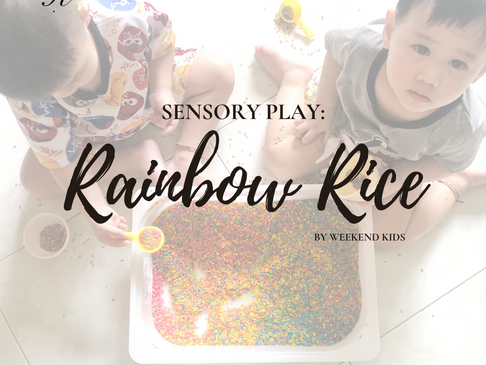 Sensory Play: Rainbow Rice
