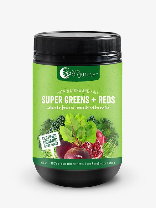 Nutra Organics - Super Greens + Reds - 300g