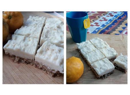 Coconut, Lemon and Ginger Slice