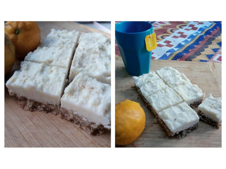 Coconut, Lemon and Ginger Slice