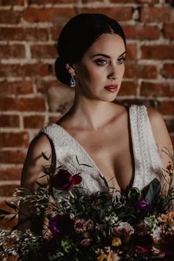 bridal photoshoot at Venue 142