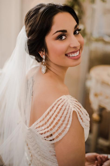 Indian Styled Bridal Makeup + Hair