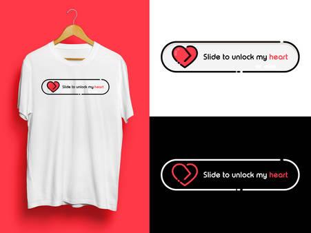 Slide to unlock Tshirt Design