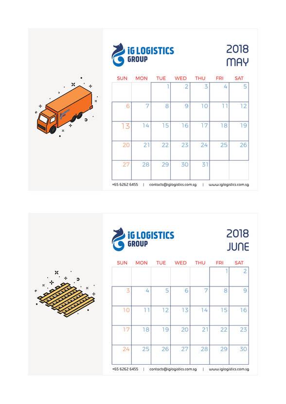 iG Logistics calendar 3