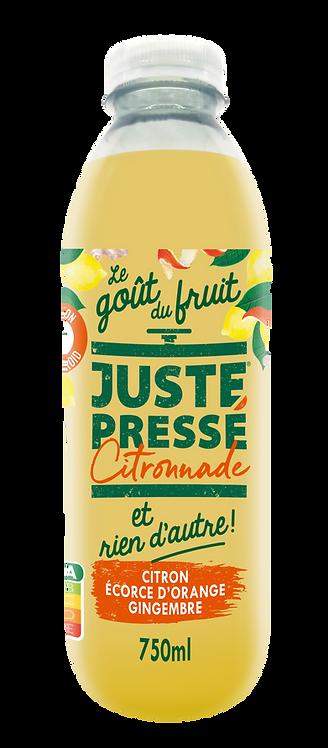 Juste Pressé - Citronnade citron, écorce d'orange, gingembre (750ml)