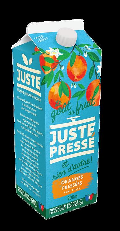 JUSTE Pressé - Oranges pressées sans pulpe (900ml)