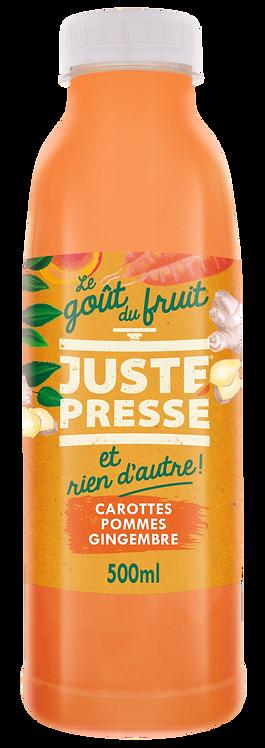 JUSTE Pressé - Carottes, Pommes, Gingembre (500ml)