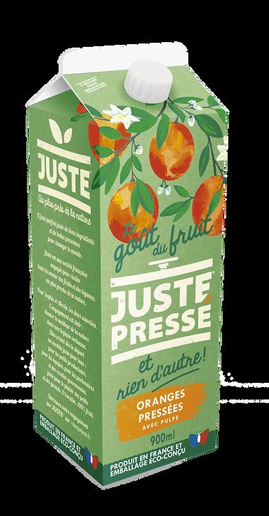 JUSTE Pressé - Oranges pressées avec pulpe (900ml)