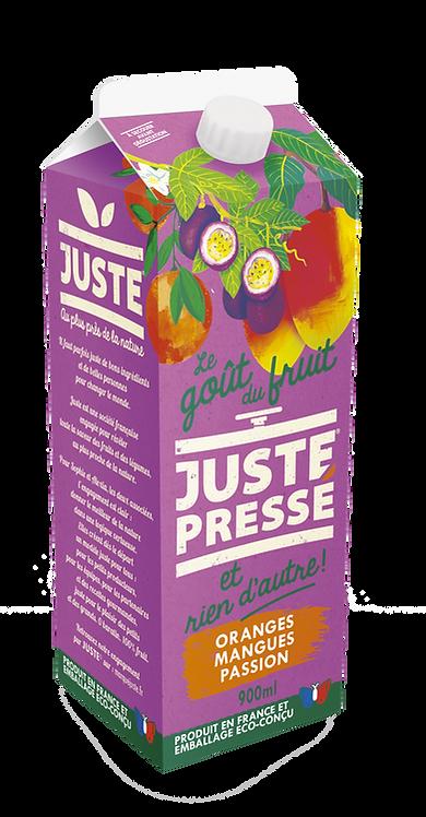 JUSTE Pressé - Oranges, Mangues, Passion (900ml)