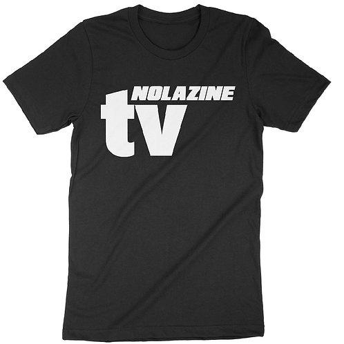 Black Nolazine TV T-Shirt