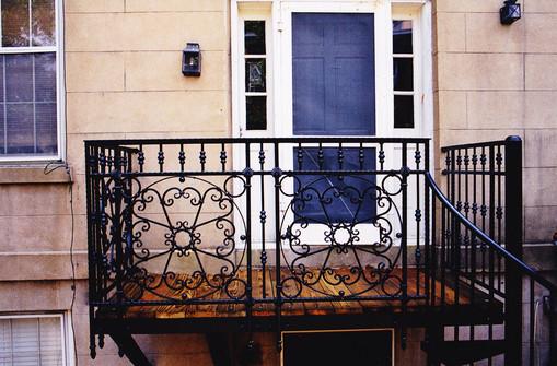 Whitaker St balcony, Savannah GA