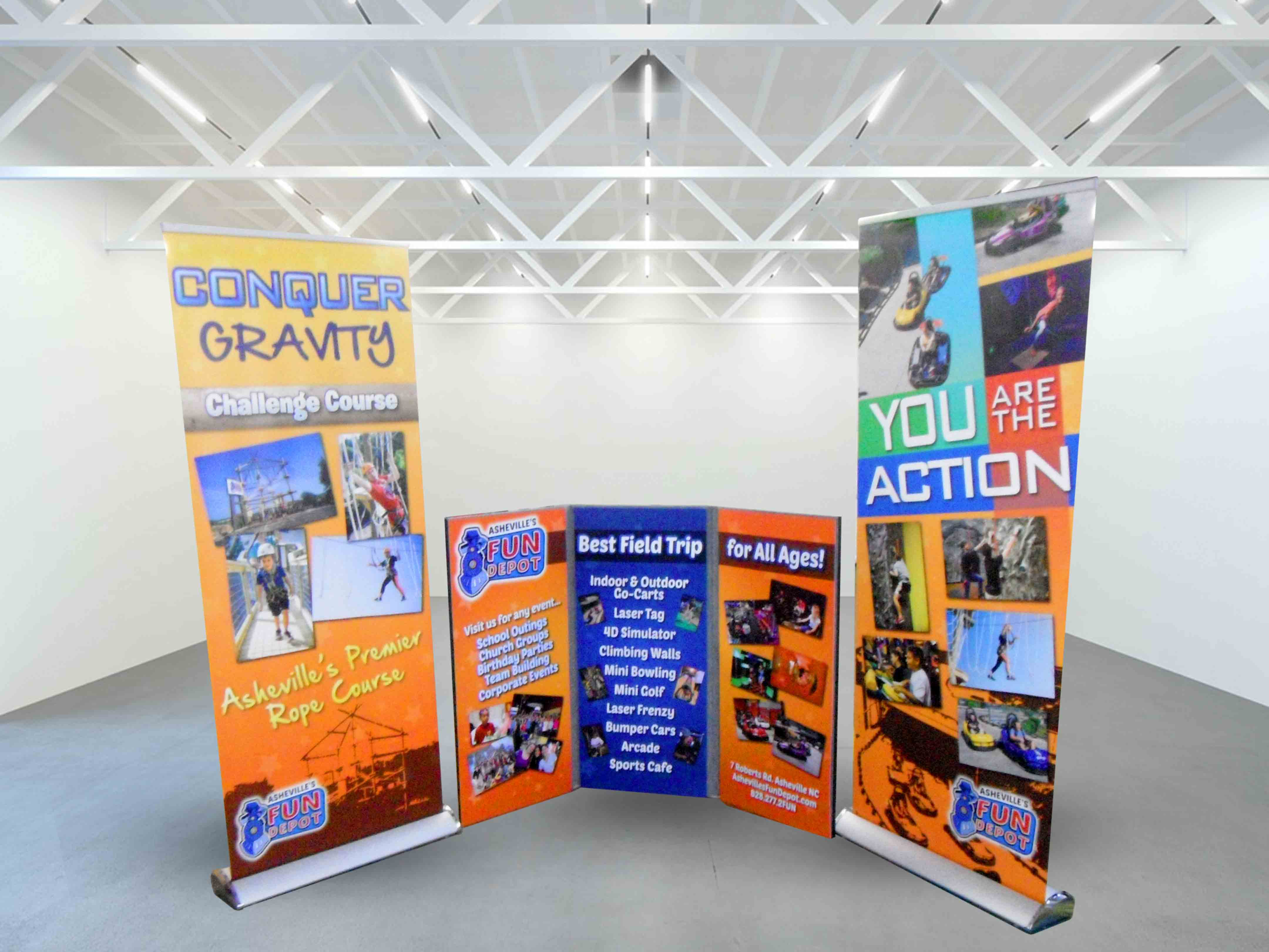 Fun Depot Retractable Banners