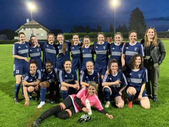 Une équipe de football féminin au Vallon du Nozon