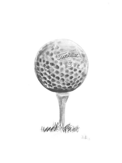 Golf Ball Digital Illustration