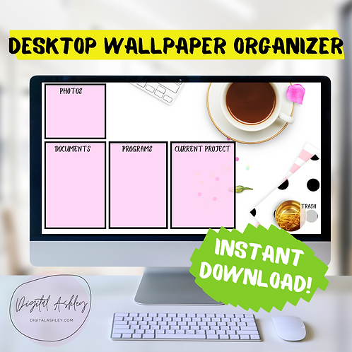 Pink Party Desk Desktop Organizer Wallpaper