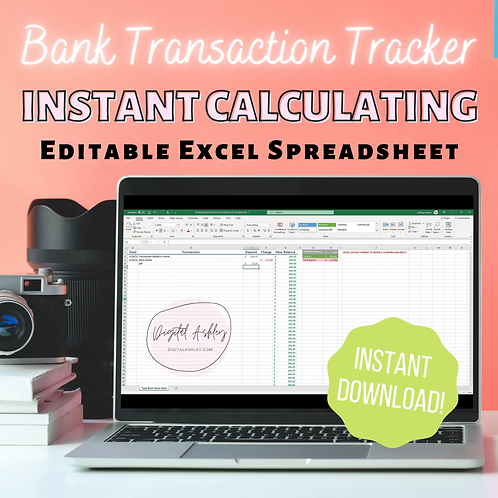 Banking Expense Income Tracking Excel Template