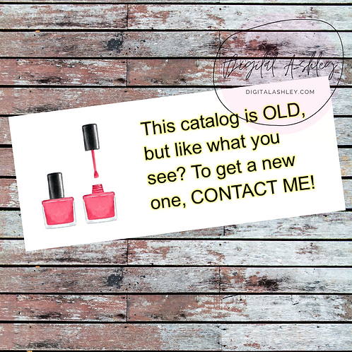 Nail Polish Old Brochure Labels for your Direct Sales Business