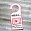 Thumbnail: 4-Pack Recording in Progress Printable Door Hanger