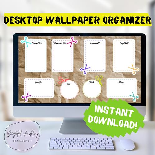Brown Paper Coupon Style Organizing Desktop Wallpaper