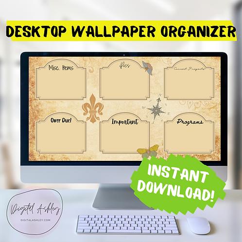 Vintage Notes Desktop Organizer Wallpaper