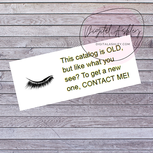 Lashes Old Brochure Labels for your Direct Sales Business