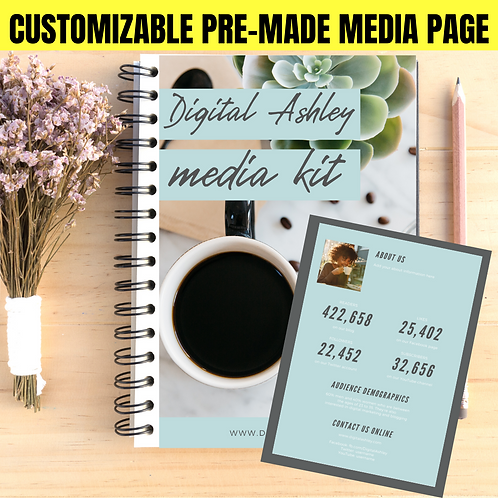 Double Page Pre-Made Layout Customized Media & Press Kit
